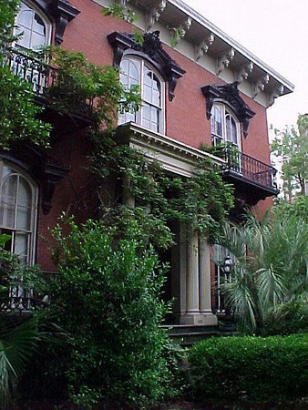 "MERCER HOUSE Made famous in the book / movie, ""Midnight in the Garden of Good and Evil"". (Savannah's Historical District. Sept 6, 2000)"