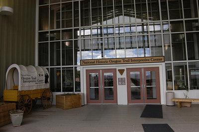 ENTRANCE -- Oregon Trail Interpretive Center, Baker City, Oregon (Sept 2004)