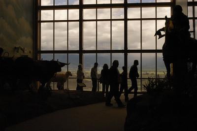 VIEW OF BAKER VALLEY IN DISTANCE -- Oregon Trail Interpretive Center, Baker City, Oregon (Sept 2004)