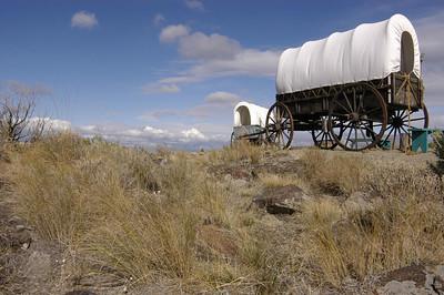 ACTUAL SECTION OF THE OREGON TRAIL -- Oregon Trail Interpretive Center, Baker City, Oregon (Sept 2004)