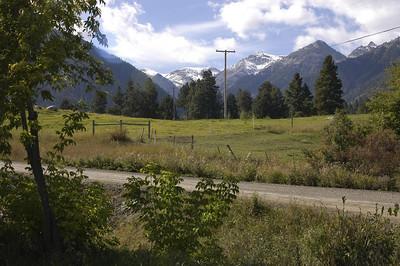 WALLOWA MOUNTAINS -- Wallowa Valley between Joseph and Enterprise, Oregon (Sept 2004)