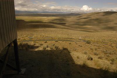 WINDOW VIEW -- Oregon Trail Interpretive Center, Baker City, Oregon (Sept 2004)