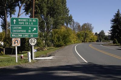 LEAVING TOWN -- Wallowa, Oregon (Sept 2004)