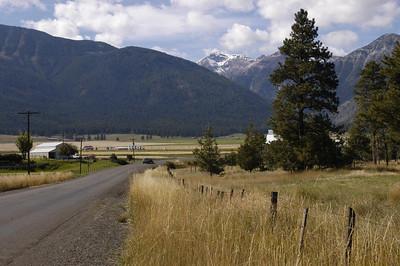 HURRICANE CREEK ROAD -- Wallowa Valley between Joseph and Enterprise, Oregon (Sept 2004)