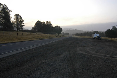 OVERNIGHT STOP: On Hwy 49 a few miles north of Mariposa, California (Oct 2006)