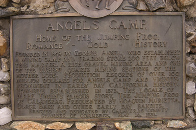 CALIFORNIA HISTORY: This bronze plaque at the south end of town tells how the town was named.