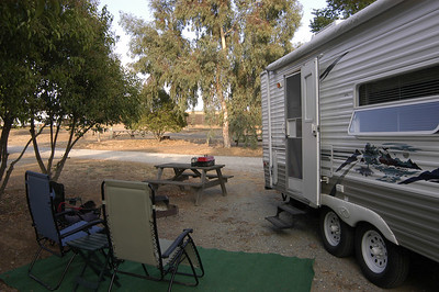 OUR CAMP: Just south of Angels Camp, California (Oct 2006).