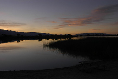 DAWN: Diaz Lake south of Lone Pine, California (Sept 2006)