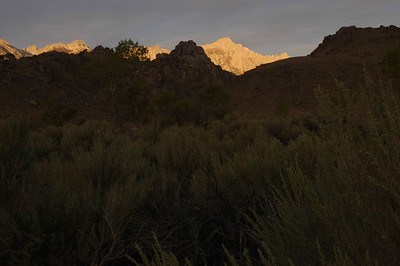 MT WHITNEY: As seen from our camp at Diaz Lake (Sept 2006).