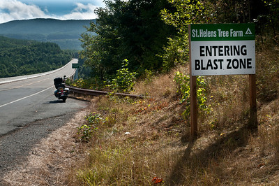 (Sept 16, 2011) Eastbound on Washington State Route 504, also known as the Spirit Lake Memorial Highway, named in honor of the 57 people who died as a result of the eruption of Mount St. Helens May 18, 1980.