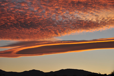 cloud formations - Baja sunset
