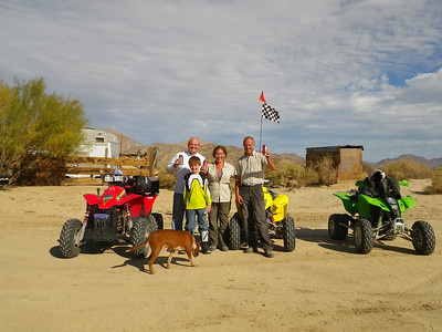 Laird, Cole Angie and me. Desert quading.