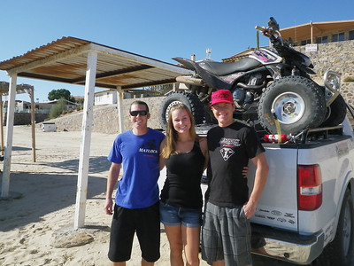 Mad Terry, Danielle and Josh Castor. Josh usually wins the Baja 1000 quad category.