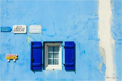 Blue wall  -  Ile de Sein  -  Bretagne