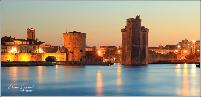 Entrance to the old port of la rochelle  -  France