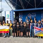 11 au 15 Juillet 2017 - jour 5 - Ceremonie de remise des medailles pour la 3e place du soccer et la 2e place des medias