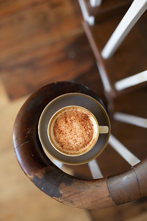 Coffee on a spiral staircase