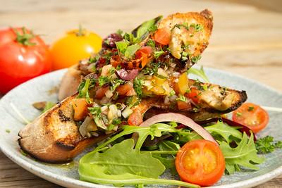 Bruschetta, Tomato, Rocket Salad