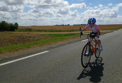 Maddie riding the Penultimate Time trial stage of the Tour De France 2012