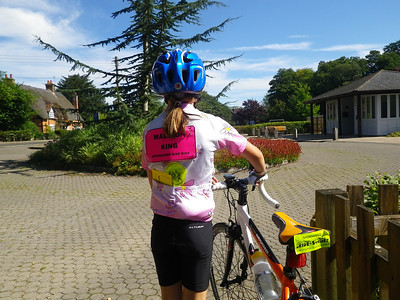 On her sponsored ride, 30 miles and 18 churches raised £132.
