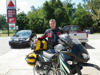 Hank, riding the TAT - Slowly !