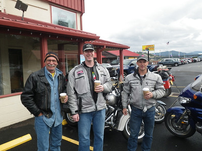 Fellow damp bikers Gold Beach Oregon
