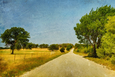 The Long and Windy Road North of Muenster, TX