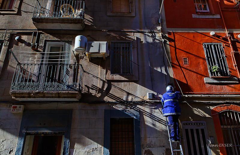 Quartier de La Barceloneta<br /> 2010  Barcelone  (Espagne)