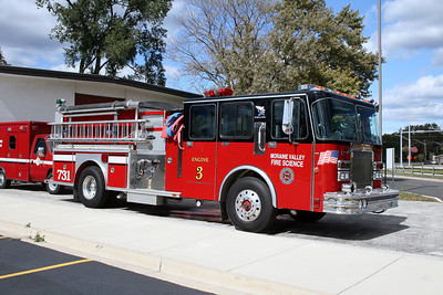 MORAINE VALLEY FIRE SCIENCE PROGRAM  ENGINE 3  1988 SPARTAN - E-ONE  1500-750 X-FRANKFORT FPD ENGINE 731  BF
