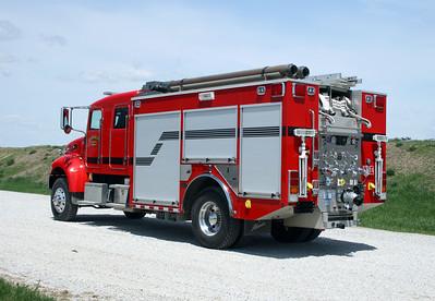 CATERPILLAR PROVING GROUNDS   ENGINE 50   PETERBILT 340 4X4 - ALEXIS  1250 - 750  REAR PUMP PANEL