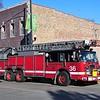 CHICAGO  TRUCK 36  2002 PIERCE DASH   100'    MATT SCHUMAN PHOTO