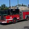 CHICAGO  ENGINE 38  SPARTAN GLADIATOR - CRIMSON   1500-500  D-631    MATT SCHUMAN PHOTO