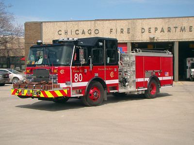 CHICAGO  ENGINE 80  2018 E-ONE CYCLONE II   1500-500   AL WHITLOCK PHOTO