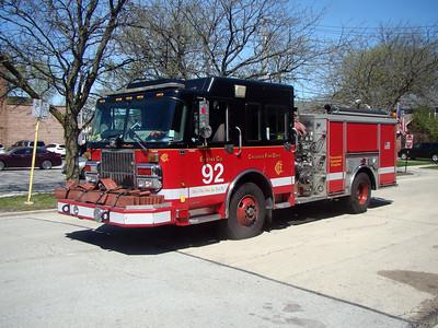 CHICAGO  ENGINE 92   2005 SPARTAN - CRIMSON  1500-500   D-624    AL WHITLOCK PHOTO
