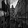 A Quiet Canal - Venice (B+W)