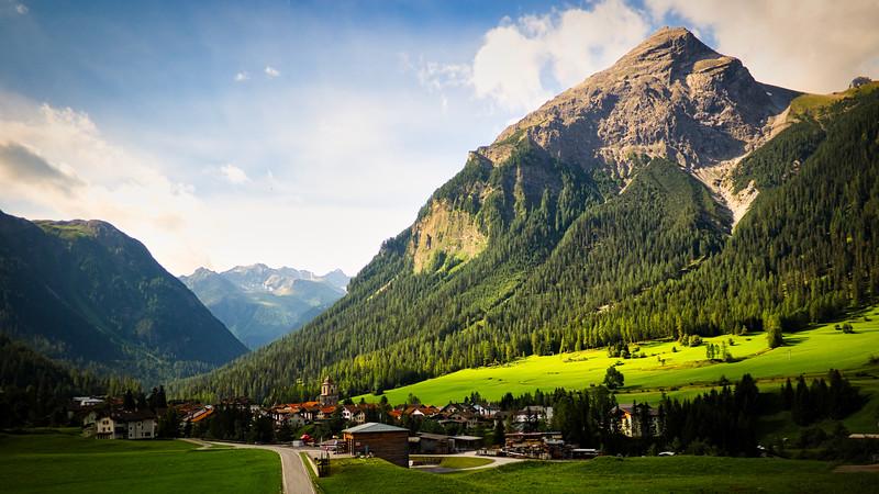 Alpine Town - Switzerland