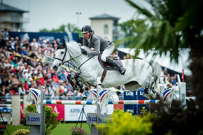 France, Chantilly : Ludger Beerbaum riding Chiara during the Longines Global Champions Tour Grand Prix of Chantilly on May 28th , 2016, in Chantilly, France - Photo Christophe Bricot