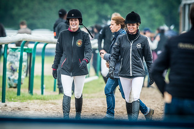 France, Chantilly : Jessica Springsteen and Edwina Tops Alexander   during the Longines Global Champions Tour , Master Airbus Group - Equidia on May 29th , 2016, in Chantilly, France - Photo Christophe Bricot