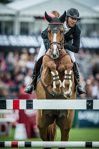 France, Chantilly : Patrice Delaveau riding Leontine Ledimar Z HDC during the Longines Global Champions Tour Grand Prix of Chantilly on May 28th , 2016, in Chantilly, France - Photo Christophe Bricot