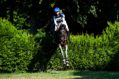 France, Marnes-la-Coquette : PRUD HON Regis riding TARASTRO during the CCI4*-S-FFE competition of the Jardy Eventing Show 2020, July 11th, at Haras de Jardy,  Photo Christophe Bricot.