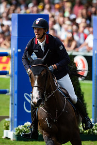 Germany, Aachen : Kevin STAUT (FRA) riding URHELIA LUTTERBACH during the Rolex Grand Prix, CHIO of Aachen, on July 21th , 2019, in Aachen, Germany - Photo Christophe Bricot