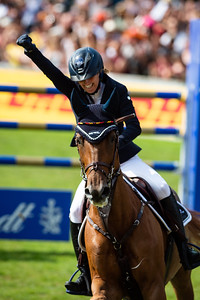 Germany, Aachen : Simone BLUM (GER) riding DSP ALICE during the Rolex Grand Prix, CHIO of Aachen, on July 21th , 2019, in Aachen, Germany - Photo Christophe Bricot