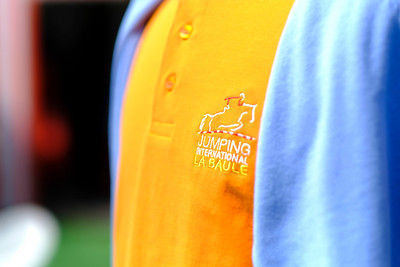 La Baule, France : Official polo shirt of La Baule Jumping,  during the International Show Jumping of La Baule 2018 (Jumping International de la Baule), on May 17, 2018, in La Baule, France - Photo Christophe Bricot