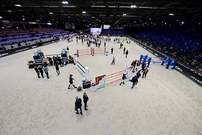 France, Villepinte : Arena of the Longines Speed Challenge during the Longines Masters of Paris 2017, on December 1 , 2017, in Villepinte, France - Photo Christophe Bricot
