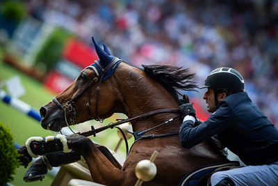 qGermany, Aachen : Guillaume Foutrier riding Valdocco des Caps during the Rolex Grand Prix, CHIO of Aachen, on July 21th , 2019, in Aachen, Germany - Photo Christophe Bricot