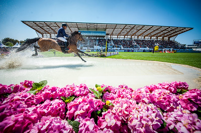 La Baule, France : Rene LOPEZ (COL) riding DESTINY'S CHILD during the Derby Région Pays de la Loire Competition of the International Show Jumping of La Baule 2018 (Jumping International de la Baule), on May 19, 2018, in La Baule, France - Photo Christophe Bricot
