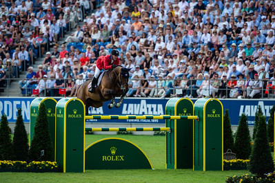 Germany, Aachen : McLain WARD (USA) riding HH AZUR during the Rolex Grand Prix, CHIO of Aachen, on July 21th , 2019, in Aachen, Germany - Photo Christophe Bricot
