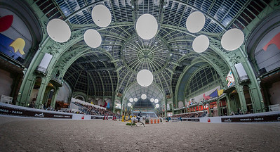 Paris, France : Gregory WATHELET (BEL) riding MJT NEVADOS S during the Saut-Hermès in the Grand Palais, on March 17, 2018, in Paris, France - Photo Christophe Bricot
