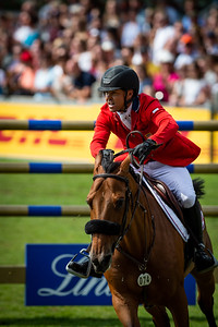 Germany, Aachen : Kent FARRINGTON (USA) riding GAZELLE during the Rolex Grand Prix, CHIO of Aachen, on July 21th , 2019, in Aachen, Germany - Photo Christophe Bricot