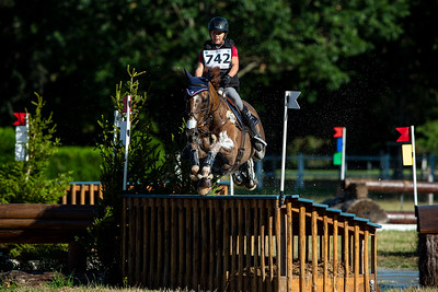 France, Marnes-la-Coquette : TOUVRON Aurore riding PACHA DU PAITIS during the CCI4*-S-FFE competition of the Jardy Eventing Show 2020, July 11th, at Haras de Jardy,  Photo Christophe Bricot.